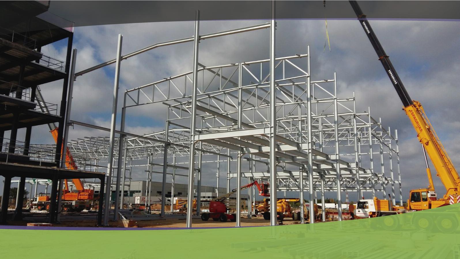 Construcción edificios con estructura metálica
